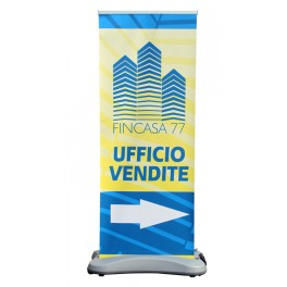Roll up banner outdoor H. 200 x L. 80 cm.