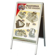 Display leggero H. 180 x L. 80 cm.