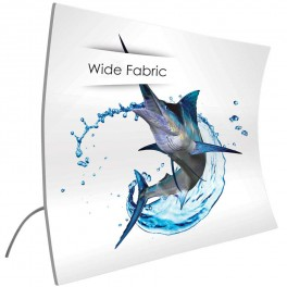 Wide Fabric Vertical Curved