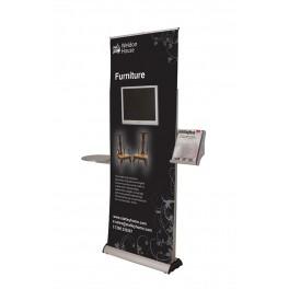 Roll up display 215x80 cm.